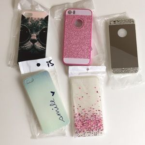 Set of 5 iPhone 5/5s/se cases